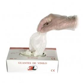 GUANTE DESECHABLE VINILO (100 UND)