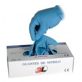 GUANTE DESECHABLE NITRILO (100 UND)